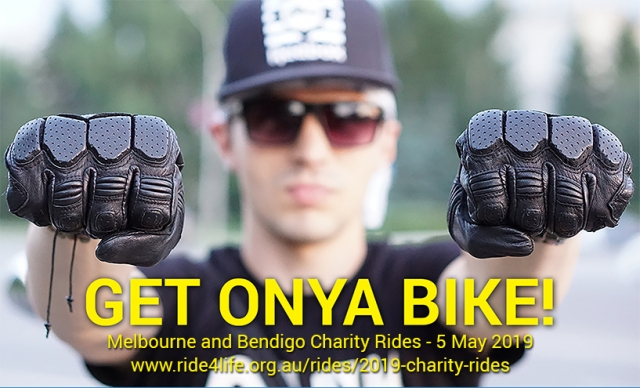 Graphic promoting charity ride on 5th May 2019
