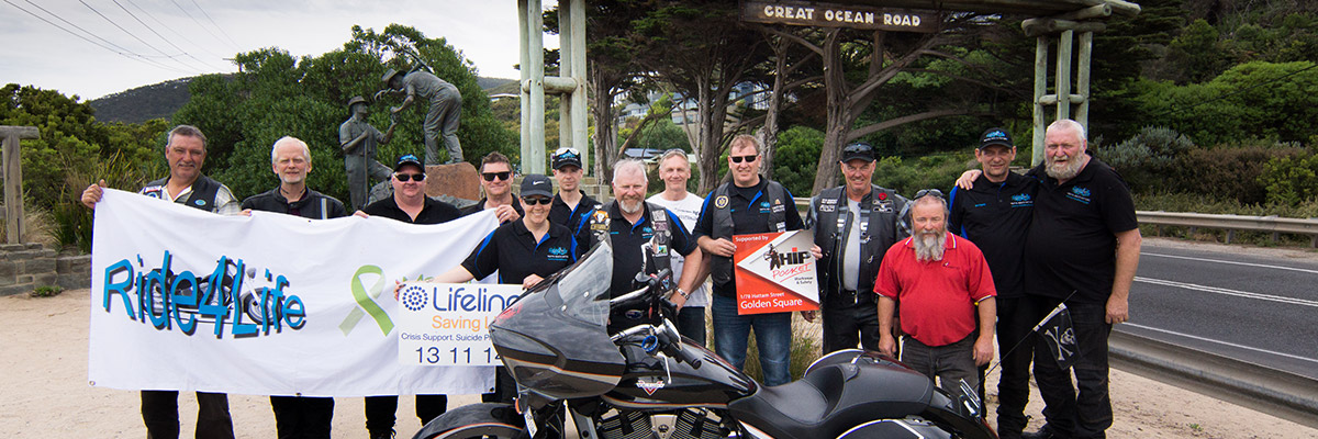 Ride4Life Extra Dollop Tour at beginning of Great Ocean Road
